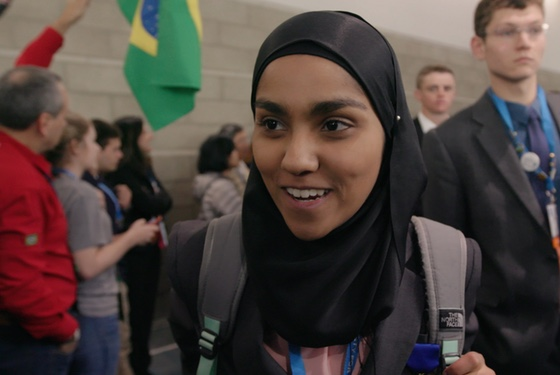 Kashfia Rahman, who couldn't get a single science teacher at her South Dakota school to supervise her ISEF project...