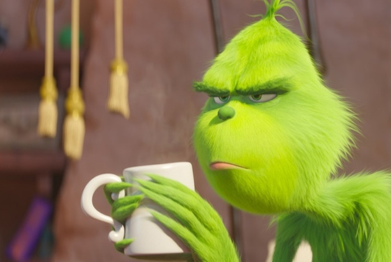 Do not talk to the Grinch before he's had his coffee. Or, indeed, after he's had his coffee.