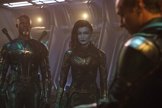 Captain Marvel Djimon Hounsou Gemma Chan Jude Law