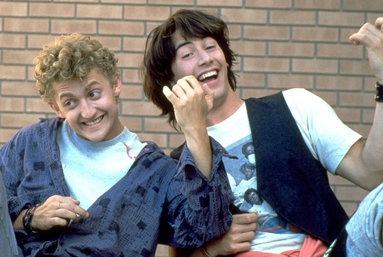 Bill and Ted's Excellent Adventure Alex Winter Keanu Reeves